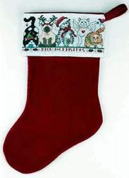 Janlynn Meowy Christmas Counted Cross Stitch Stocking Kit