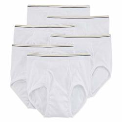 Stafford 6 Pack 100% Cotton Full-cut Briefs Size 42 White
