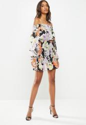 Guess 3QTR Sleeve Gabby Dress - Multi