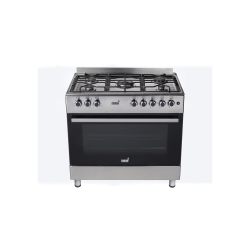 5 Gas Burner With Gas Oven - Stainless Steel