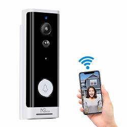 Video Doorbell Wireless Wi-fi Doorbell Camera With Motion Detector - Smart 1080P HD Waterproof Home Security Peephole Cam Door Bell For Front Door With