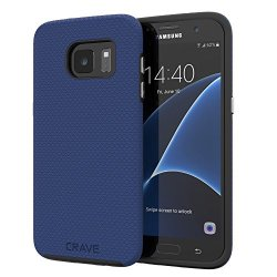 Crave S7 Edge Case Dual Guard Protection Series Case For Samsung Galaxy S7 Edge - Navy Blue