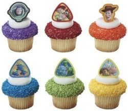Decopac 24 Ct - Toy Story 3 Buzz Lightyear Woody And Gang Cupcake Rings