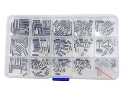 320 Pcs 16 Kinds Slotted Spring Pin 304 Stainless Steel M2 M2.5 M3 M4 Split Spring Dowel Tension Roll Pins Assortment Kit