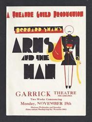 "USA Lunt & Fontanne""arms And The Man"" Bernard Shaw 1928 Philadelphia Herald"
