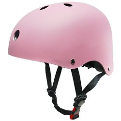 Kuyou Helmet Abs Hard Rubber For Skateboard ski skating roller Snowboard Helmet Protective Gear Suitable Kids And Youth Pink