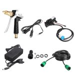 80W 12V High Pressure Car Electric Washer Squirt Sprayer Wash Self-priming Pump Water Cleaner For A