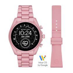 Michael Kors Gen 5 Women's Bradshaw Pink Aluminum Smartwatch - MKT5098