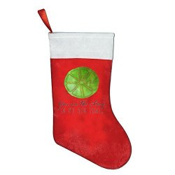 Anutknow Christmas You Are The Lime In My Gin Tonic Quote Santa Stocking Xmas Decoration