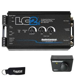 AudioControl LC2I 2 Channel Line Out Converter With Accubass And Subwoofer Control ACR-1 Dash Remote