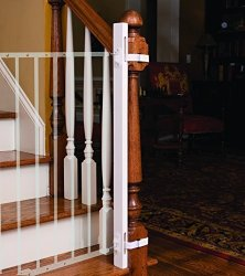 """LPA1 Ez-fit: 42"""" Baby Gate Walk Thru Adapter Kit For Stairs + Child And Pet Safety - Protect Banisters + Walls - Only Includes 1"""