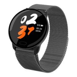 K9 1.22 Inch Color Screen Steel Watchband Smart Bracelet Support Call Reminder Heart Rate Monitoring blood Pressure Monitoring Sleep Monitoring blood Oxygen Monitoring Black