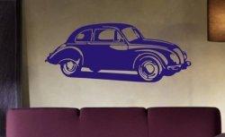 Volkswagon Beatle Decal Sticker Wall Bug Car Nice Modern Guy Girl Child