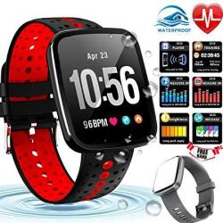 """Fitness Tracker Smart Watch 1.3"""" Waterproof Fitness Watch Activity Tracker With Heart Rate Blood Pressure Monitor Blood Oxygen Sleep Monitor Call Remi"""