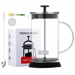 Miocaro French Press Coffee Maker Set Gift 8 Cup Durable Glass 34 Oz Tea Maker Stainless Steel