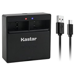Kastar Dual USB Charger For Gopro HERO5 Hero 5 Black GOPRO5 And Gopro AHDBT-501 AHBBP-501 Sport Camera Compatible With Firmware V01.57 V01.55 And Future Update