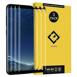 Compatible With Samsung Galaxy S9 Screen Protector- 3 Packs Anti-scratch 9H Hardness Shatter Proof Oleophobic Coating Full Coverage Silk Print Tempered Glass Protective Film Not