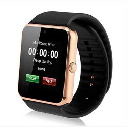 Amazingforless Bluetooth Touch Screen Smart Wrist Watch With Camera And 8GB Micro Sd Card - Gold