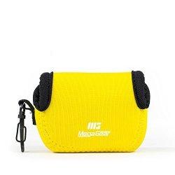 "Megagear ""ultra Light"" Neoprene Camera Case Bag With Carabiner For Gopro HERO5 Gopro Gopro HD Gopro HERO3+ HERO4 SJ4000 SJ5000 Camera Yellow"