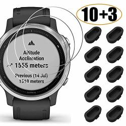10+3 Pack Compatible With Garmin Fenix 6S 6S PRO 6S Sapphire Screen Protector Tempered Glass Waterproof 9H Hardness Tempered Gla