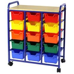 Greenbean Roll And Storage Unit: 15 Multi-coloured Bins