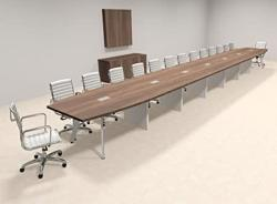 Modern Boat Shaped 30' Feet Conference Table OF-CON-CV80