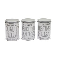 No Brand 3PC Grey Canister