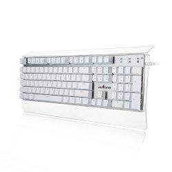 4060edd6251 Velocifire T11 Mechanical Keyboard With Zorro Blue Switches 104 Keys LED  Backlit Transparent Gaming Keyboard