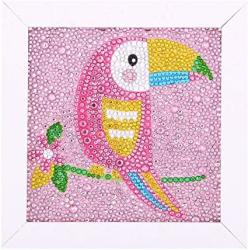 USA Maydear Small And Easy Diy 5D Diamond Painting Kits With Frame For Beginner With White Frame For Kids Toucan 6X6 Inch