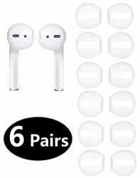 12PCS Fit In The Case Earbud Cover Accessories Ear Tips Earpads For Apple Airpods Jnsa Airpods Tips 6 Pairs White