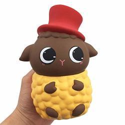 Ulanda Squishies Kawaii Cute Sheep Super Slow Rising Squeeze Toy Collection Cure Gift Yellow