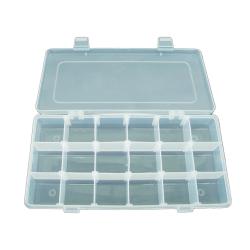 STORAGE Transparent Case 18 Compartments - Size 310 X 200 X 45MM
