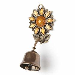 Anahbell Shopkeepers Door Bell Store Entry Door Chime Home Decoration - Sunflower Spring Bell Yellow