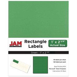 Jam Paper Mailing Address Labels - Standard Mailing - 1 X 2 5 8 - Green - 120 Shipping Labels pack