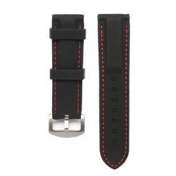 22 24MM Width Silicone Watch Band Wrist Rubber Mens Strap