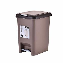 Topgalaxy Z Step Trash Can Plastic Step Garbage Bin For Office And Kitchen Garbage Can With Lid Kitchen Trash Bin 8 Liter 2 Gall R2810 00