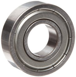 """Mrc R12FF Small Ball Bearing Double Shielded No Snap Ring Inch 3 4"""" Id 1-5 8"""" Od 11000 Rpm Max Rpm 1150 Pounds Static Load Capacity"""