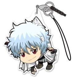Gin Tama Jyoui Shiroyasya Character Tsumamare Cospa Pinch Acrylic Mascot Phone Strap Collection Anime Art