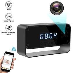 HD 1080P WiFi IP hidden Spy Camera Video Recorder Wireless Security IR Cam Clock