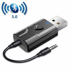 NETVIP USB Transmitter And Receiver Bluetooth 5.0 3.5MM Wireless Bluetooth Adapter 2 In 1 Low Latency Bluetooth Audio Adapter Fo