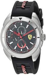 Ferrari Men's Forza Quartz Stainless Steel And Silicone Strap Casual Watch Color: Black Model: 830546