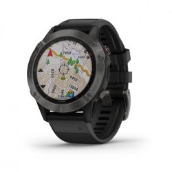 Garmin Fenix 6 Pro Sports Watch - Black With Black Band