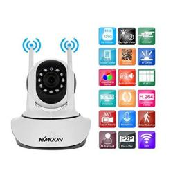 KKmoon 1080P Wireless Wifi Pan Tilt HD Ip Camera 2.0MP 1 2.7 Cmos 3.6MM Lens Support Ptz Two-way Audio Night Vision Phone App Control Motion Detectio