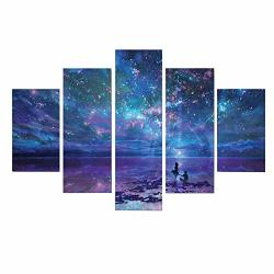 LYY 5D Diamond Painting Kits Full Drill Diamond Embroidery 5 Sets Of Splicing Paintings Starry Sky