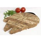 Millennium Falcon Board - Wooden Cutting Board - Engraved Wooden Plate - Rustic Cutting Board - Futuristic Serving Platter - Val