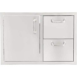 Signature Series Bbqguys 30-INCH Stainless Steel Left-hinged Access Door & Double Drawer Combo