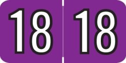 """Doctor Stuff 2018 Year Labels Colwell Jewel Tone Compatible Series Purple 500 ROLL 1 Roll 3 4"""" X 1-1 2"""