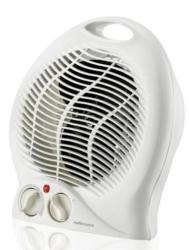 Mellerware White Floor Fan Heater - 35200