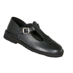 Toughees Melissa Girls Buckle School Shoes - Black
