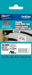 Brother Printer Brother Laminated Flexible Id Black On White 1 2 Inch Tape - Retail Packaging TZEFX231 - Retail Packaging
